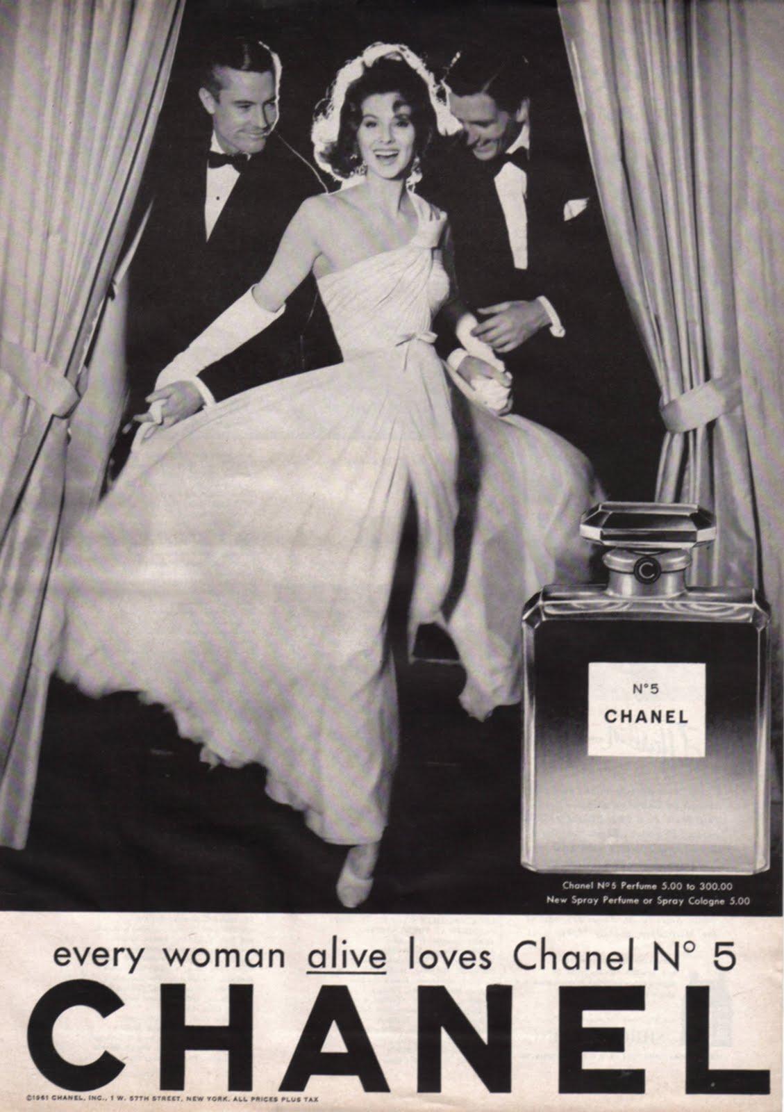 Chanel 5 perfume ad vintage elizabeth galloway - Vintage chanel ...