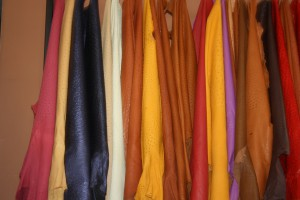 Selection of Ostrich skins