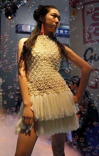 Dress from a condom fashion show in China