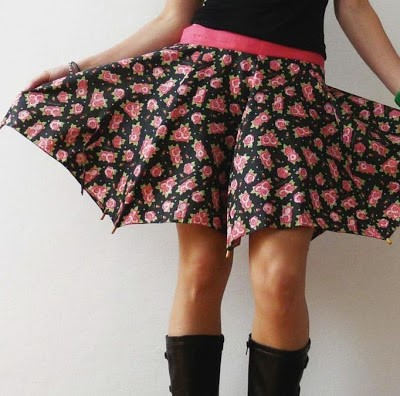One-of-a-kind umbrella skirt by C Felli