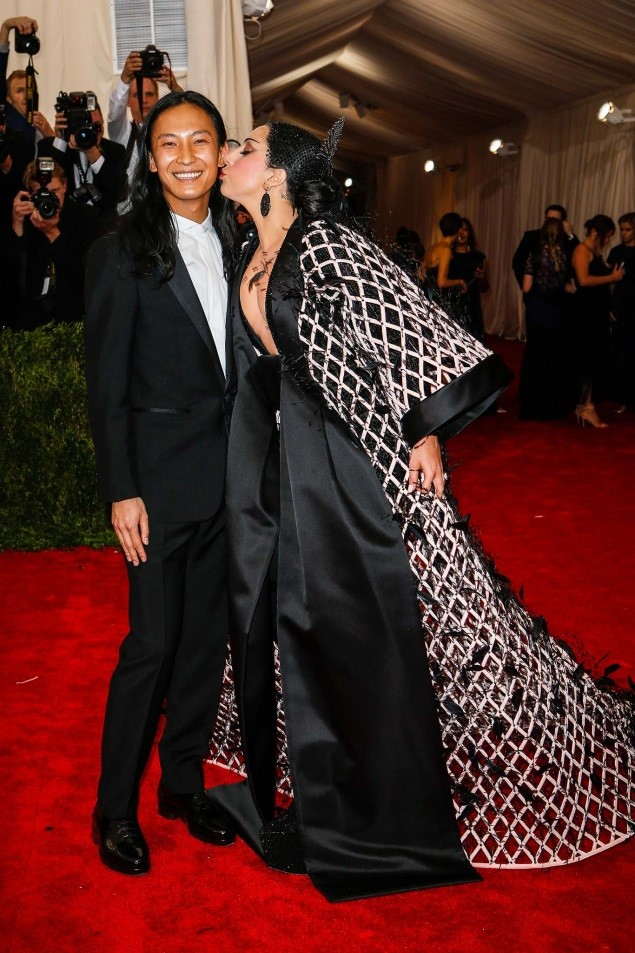 Alexander Wang and Lady Gaga, in Balenciaga