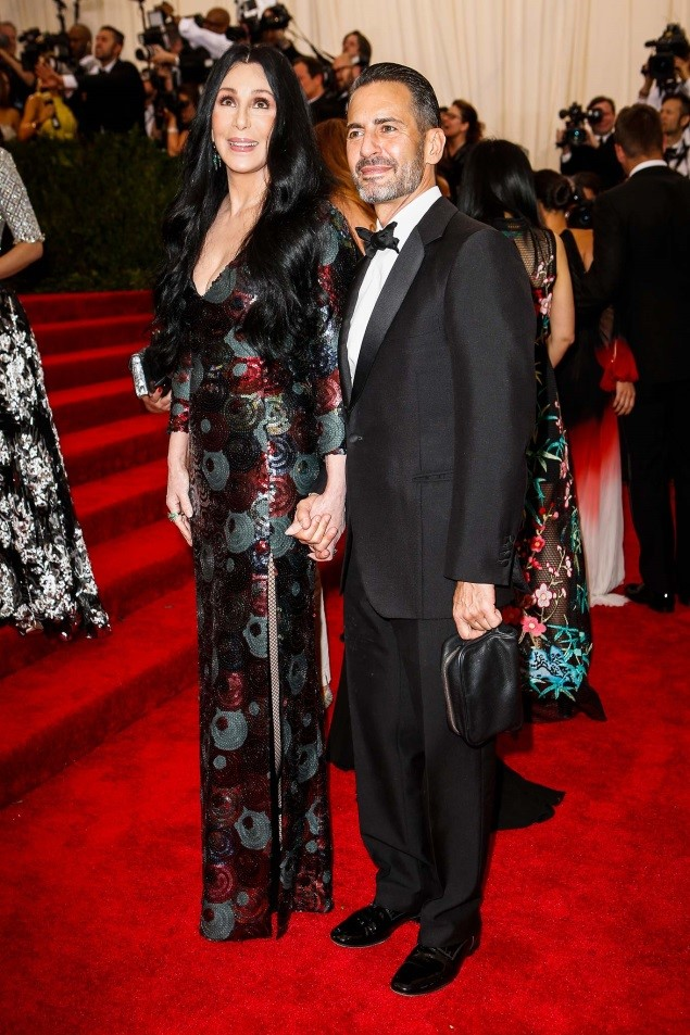 Cher, in Marc Jacobs, with the designer