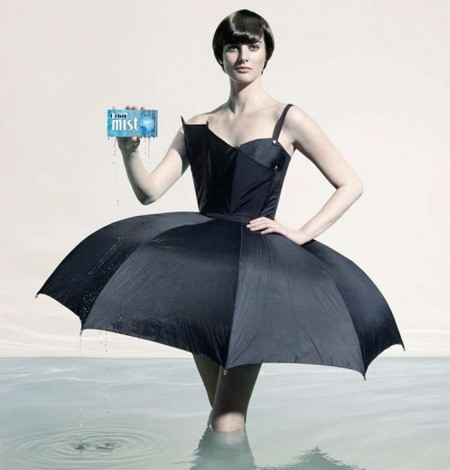 Stylish dress created for Orbit Mist print advertising campaign