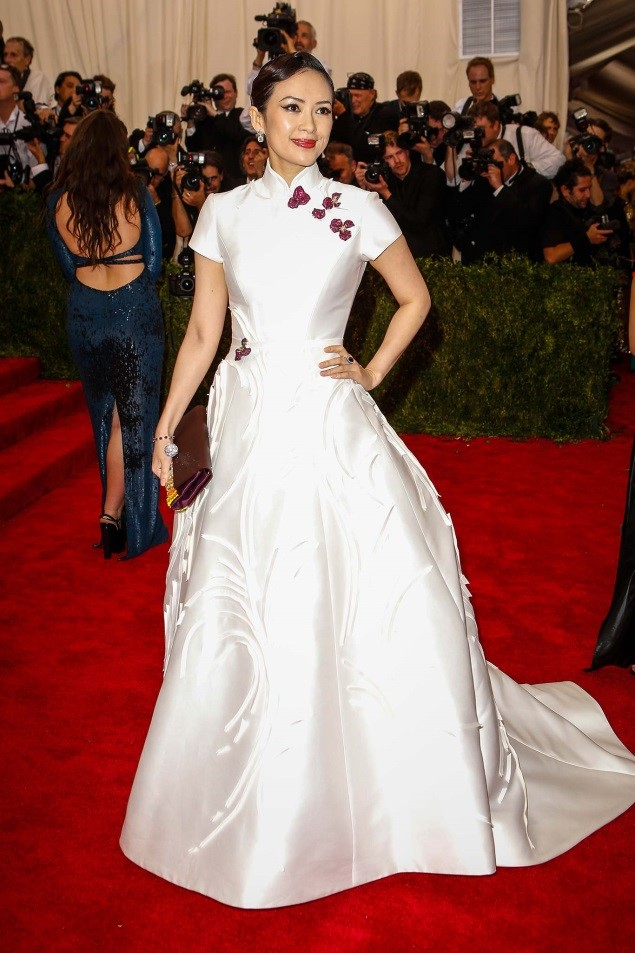 Ziyi Zhang, in Carolina Herrera