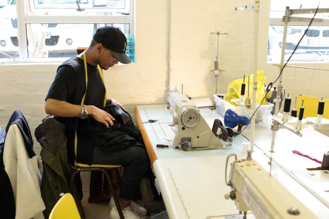 Gap Year : Students constructing garments