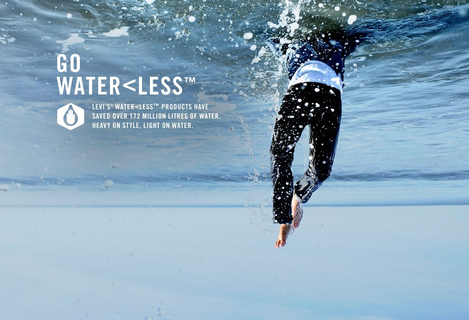 Eco friendly Levi's using 96% less water